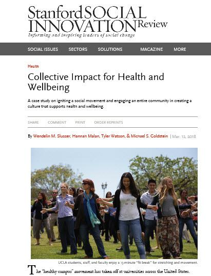 Healthy Campus Network: To make UC the healthiest place to work