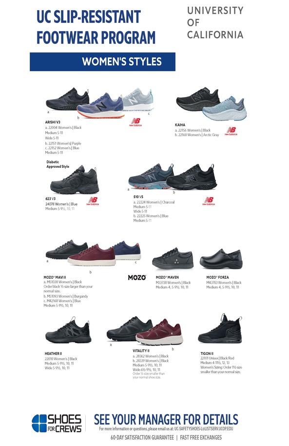 Uc Slip Resistant Footwear Program Ucop