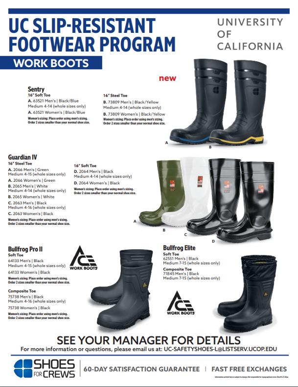 UC Slip Resistant Footwear Program UCOP  UCOP